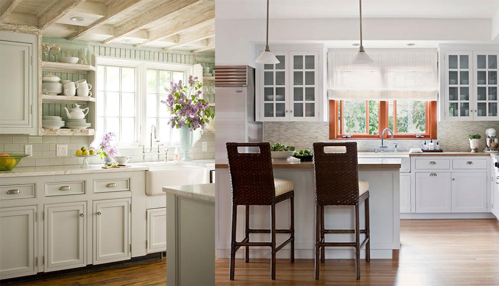 La caractéristique principale de cuisine moderne 2018 est son atmosphère lyrique, la beauté naturelle, la simplicité combinée avec l'élégance.