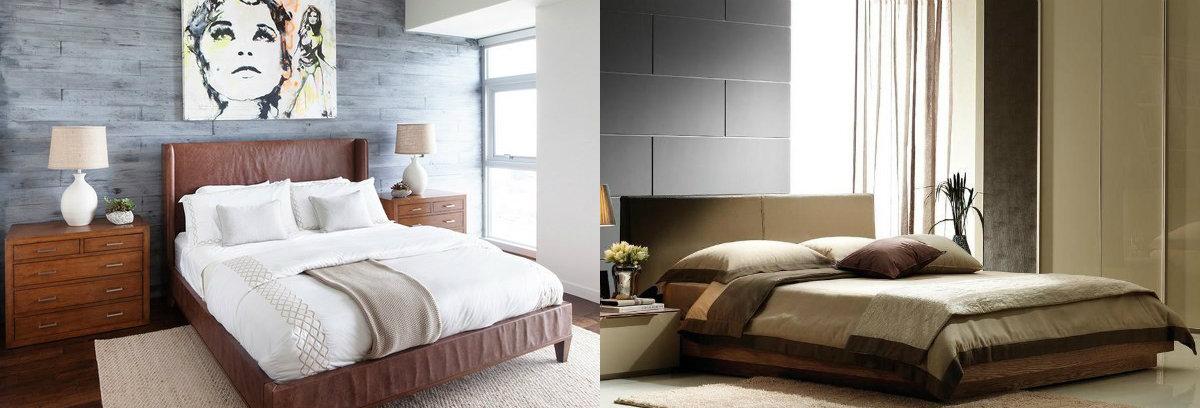 """Si vous décidez de créer un intérieurminimalist de la chambre à coucher 2019, faites attention aux armoires """"invisibles""""."""