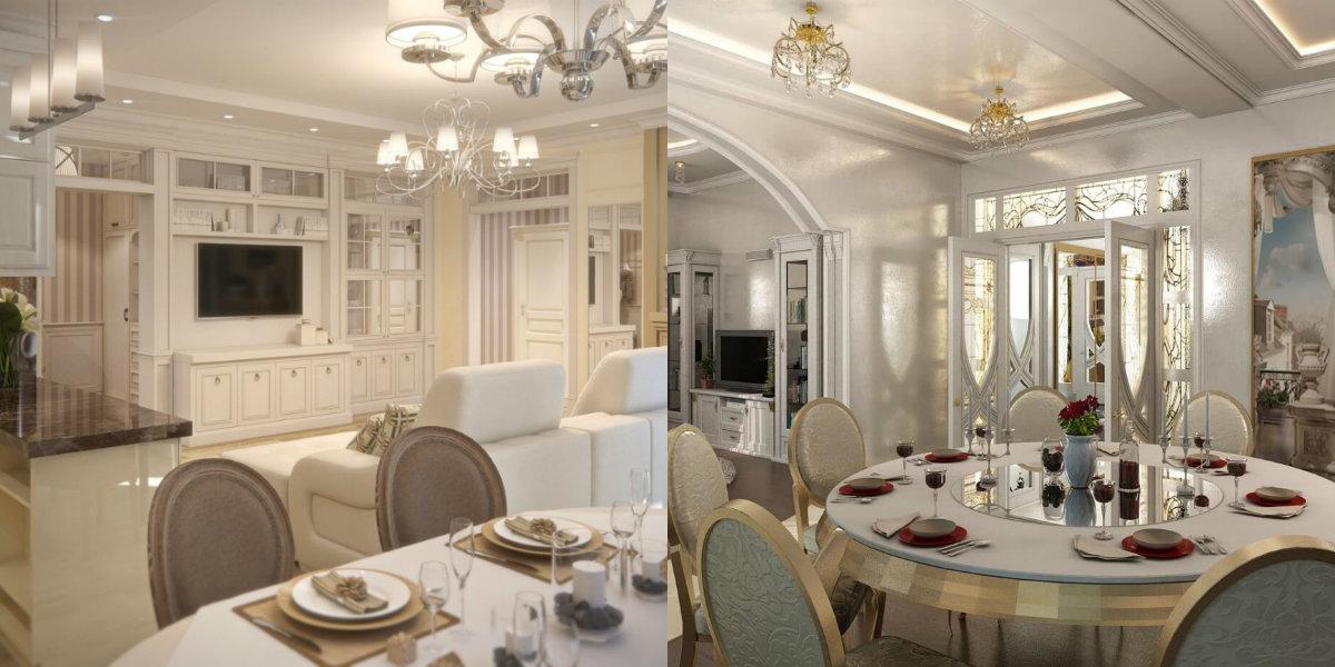 La conception de la salle a manger 2019 dépend en grande partie du type de pièce