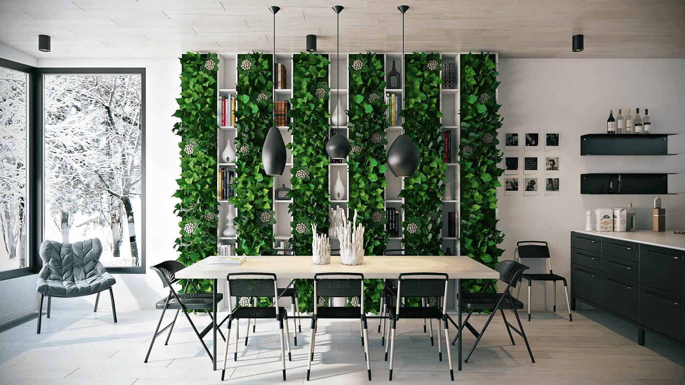 Tendances de la salle à manger 2021: inclusion des plantes