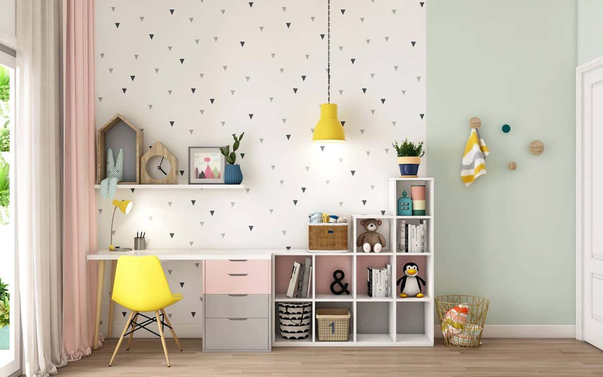 Tendances du papier peint pour la chambre des filles 2021