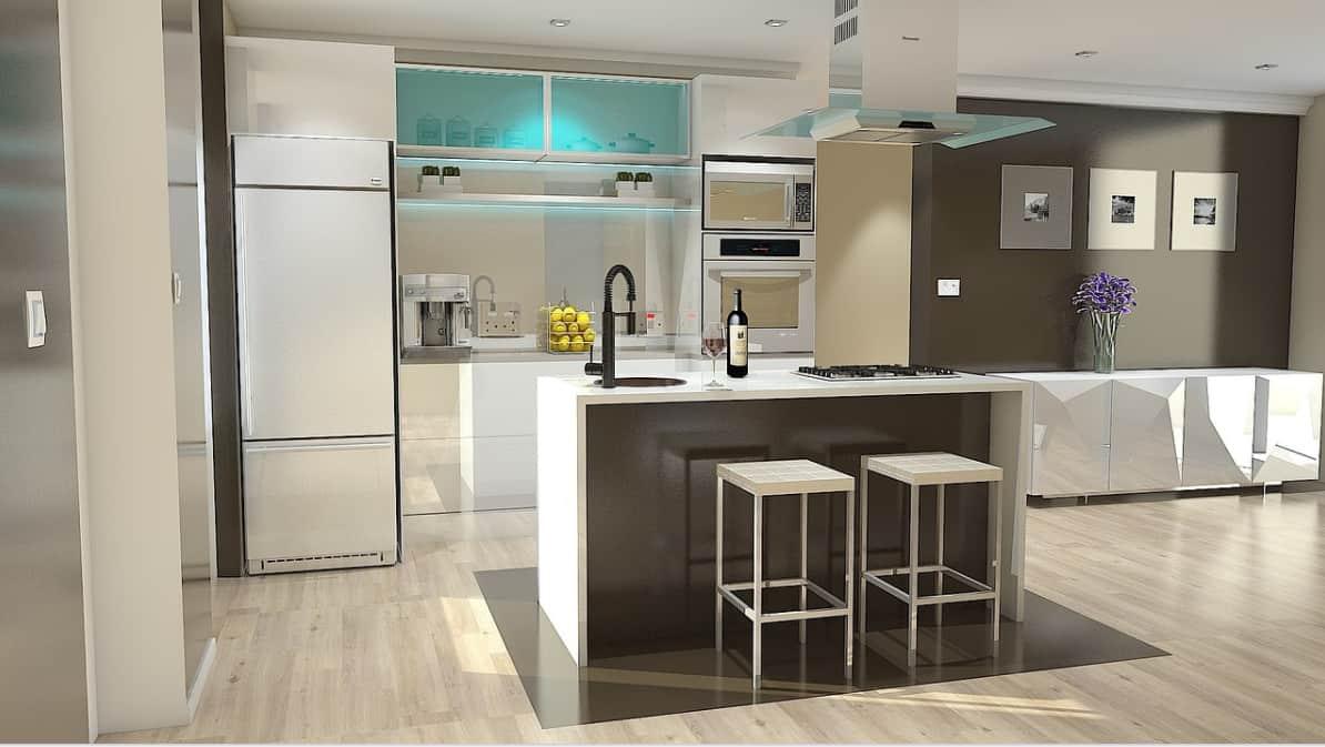 L'éclairage dans la conception de la cuisine 2022