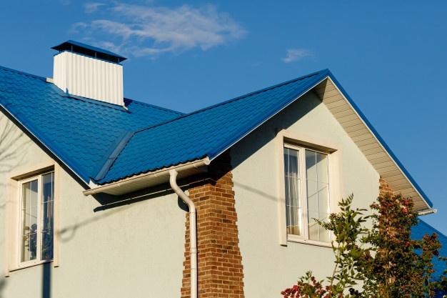 Peinture d'extérieur 2022: toit bleu